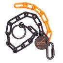 Porte-clés chaîne monogramme noir et orange Louis Vuitton