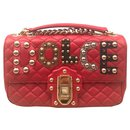 Dolce & Gabbana Lucia Red Leather