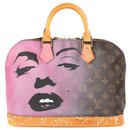 """Louis Vuitton Alma Monogram bag customized """"Marilyn for Ever"""" the artist by PatBo!"""