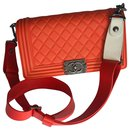 Medium Boy Bag Galuchat wide strap - Chanel