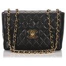 Chanel Black Classic Jumbo Lambskin Single Flap Bag