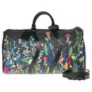 Limited Edition Louis Vuitton Keepall 50 Eclipse Foliage with strap, pristine condition