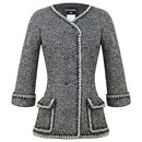 metallic boucle tweed jacket - Chanel