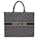 Christian Dior Book GM shopping bag in blue canvas, new condition