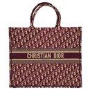 Christian Dior Book GM tote in burgundy oblique Monogram canvas, new condition