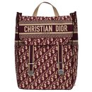 Christian Dior backpack in burgundy oblique monogram canvas, new condition