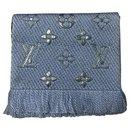 Sciarpa Louis Vuitton Logomania azzurra