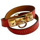Hermès - Rivale - Red - Lizard