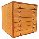 Hermès Storage Chest for Scarves or Jewelry in wood and Leather Rare