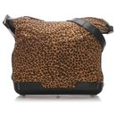 Bottega Veneta Brown Leopard Print Shoulder Bag