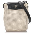 Hermes White Canvas Herbag TPM Crossbody Bag - Hermès