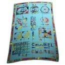 Green Chanel shawl