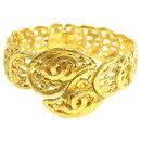 Bracelet jonc CC doré doré - Chanel