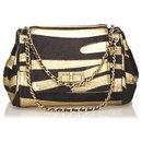 Chanel Black Zebra Print Pony Hair Reissue Flap Bag