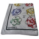 CHANEL Camélias Beach towel Rare Model - Chanel
