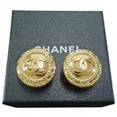 Chanel Vintage Round Clip Earrings