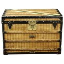 Superb Louis Vuitton trunk in striped canvas 1870/1890