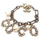 Bracelet Chanel Or Faux Perle Coco