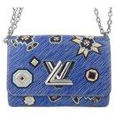 Louis Vuitton Blue Epi Azteque Twist MM