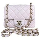 Chanel light pink mini classic flap bag