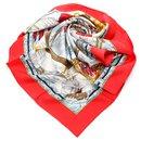 Hermes White Vive le Vent Silk Scarf - Hermès