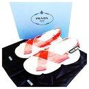 Brand new 2020 Red PVC Transparent Slides Size 38 - Prada