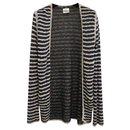 Chanel Tweed Striped Cardigan Sz 38