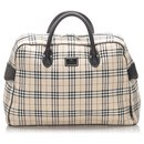 Burberry Brown House Check Canvas Travel Bag