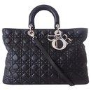 LADY DIOR BLACK sizeM BAG - Dior