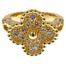 Bague Van Cleef and Arpels en or et diamant Alhambra - Van Cleef & Arpels