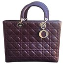 Lady Dior GM wine leather - Christian Dior
