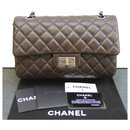 Chanel brown lambskin flap bag with mademoiselle lock