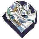 Foulard en soie Hermes Blue Passementerie - Hermès