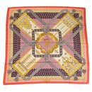 Hermès Carre90 Biinj dai repeating pattern Womens scarf pink x purple