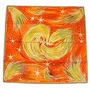 Hermès Carre90 FEUX DU CIEL Sky Lights Womens scarf orange