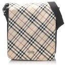 Burberry Brown Nova Check Canvas Crossbody Bag