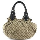 Gucci Pelham Hobo Bag Beige GG Canvas and Leather