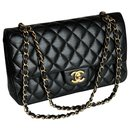Black Dbl Flap Bag Timeless Classic - Chanel