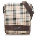 Burberry Brown House Check Canvas Crossbody Bag
