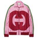nouvelle veste de survêtement à logo GG - Gucci
