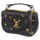 LOUIS VUITTON New Wave MM love lock 3WAY Womens shoulder bag M52913 Noir - Louis Vuitton