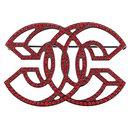 Chanel Black CC Rhinestone Brooch