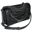 W/ card and Box Medium Enchained Boy flap bag - Chanel