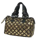 LOUIS VUITTON spangle Speedy 30 Womens handbag M40244 black x gold - Louis Vuitton