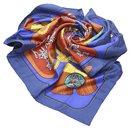 Hermes Blue Tsubas Silk Scarf - Hermès