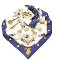 Hermes Blue Les Cles Silk Scarf - Hermès