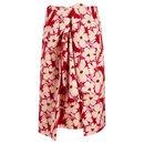 Clive tie-front floral-print cotton-poplin skirt. - Joseph