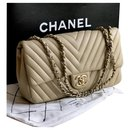 Classic Flap Bag  with box , dustbag limited chevron - Chanel