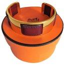 Magnifique bracelet en laiton de veau doré Hermès