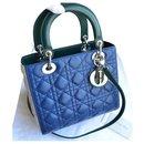 Christian Dior Lady Dior Medium Tricolor Bag